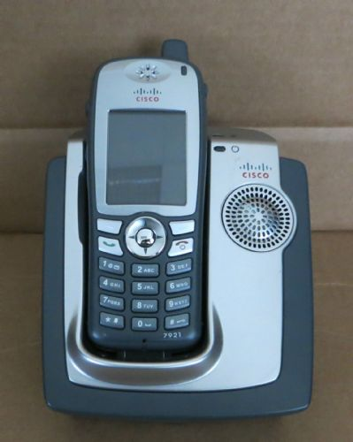 Cisco 7921 Unified Wireless IP Phone CP-7921G-E-K9 + Desktop Charger No PSU